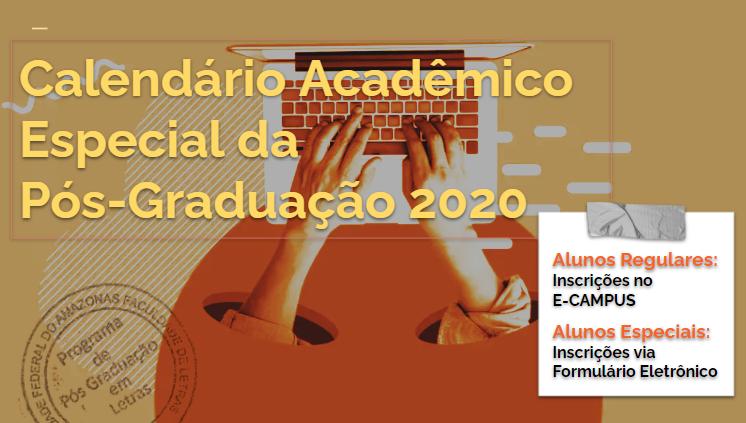 PPGL oferecerá disciplinas online no âmbito do Calendário Acadêmico Especial da Pós-Graduação/UFAM